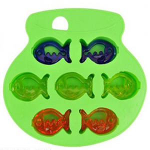 Fish Shape Ice Cubes Silicone Ice Cube Tray