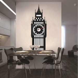 Big Ben Shadow Wall Decal Sticker