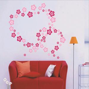 Flower Hearts Wall Decal Sticker