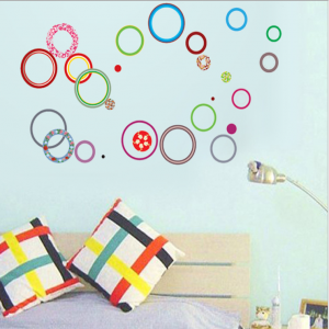Multi-Colored Circles Wall Decal Sticker
