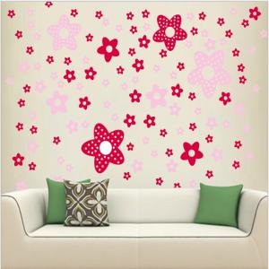Pink Stars Wall Decal Sticker