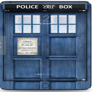 Tardis Doctor Who Police Box Time Machine iPad Air