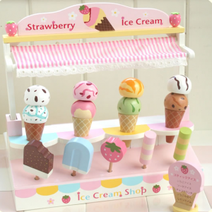 Mother Garden Handmade Wooden Pretend Play Toy--Ice Cream Parlor Shop Set