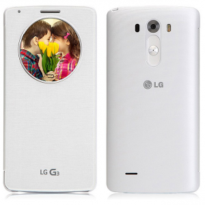 Original LG G3 Quick Circle NFC Wireless Charging Case Silk White