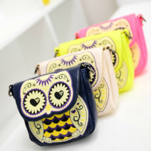 Cute Owl Bohemian Style Small Strap Cross Body Shoulder Bag Purse
