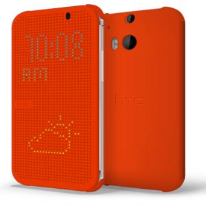 HTC M8 Dot View Case Orange