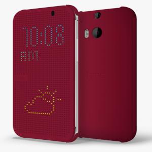 HTC M8 Dot View Case Purple