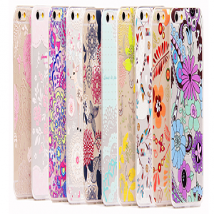 Ultra Thin Cute & Elegant Wonderland Flower Pattern iPhone 6 4.7 Jelly TPU Case