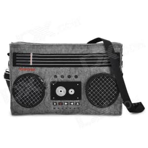 GeekCook Retro Radio Cassette Recorder Felt Fabric Shoulder Bag Carrying Case