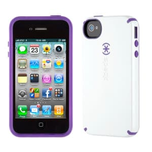 Speck Products CandyShell for iPhone 4 & 4S - White Aubergine