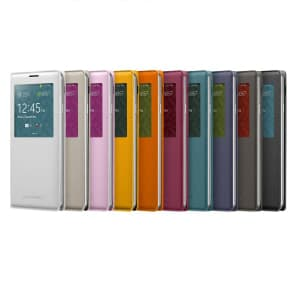 Samsung Galaxy Note 3 S-View Cover Black White Orange Pink Blue Lime Indigo Blue Mocha Grey Plum Magenta Mustard Yellow