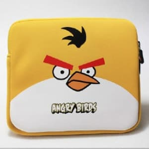 Angry Birds Yellow Bird Neoprene Sleeve Carrying Case for all models iPad 1 2 and 3