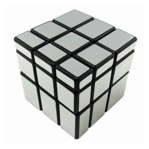 Mirror Cube Rubik's Compatible Blocks Puzzle Toy - Silver & Gold