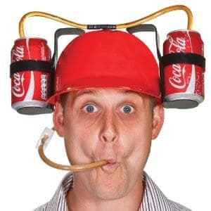 Double Dual Drinking Party Hat