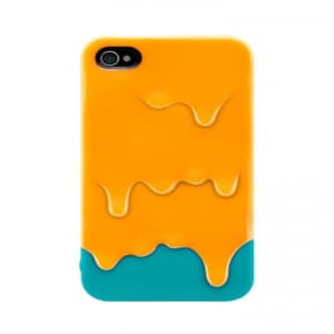 SwitchEasy Melt iPhone 4 / 4S Case - Caramel Yellow Cyan