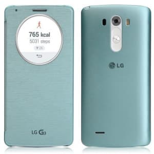 Original LG G3 Quick Circle NFC Wireless Charging Case Aqua Mint