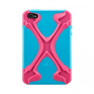 SwitchEasy CapsuleRebel X Dual Protection Case for iPhone 4 & 4S - MagentaxCyan Pink / Blue