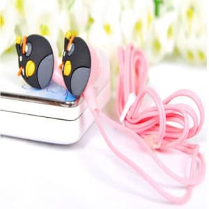 Angry Birds Headphones Ear Buds - Black Bomber