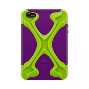 SwitchEasy CapsuleRebel X Dual Protection Case for iPhone 4 & 4S - LimexPurple Lime / Purple