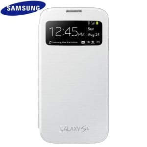 Samsung Galaxy S4 Mini S View Flip White Case Cover