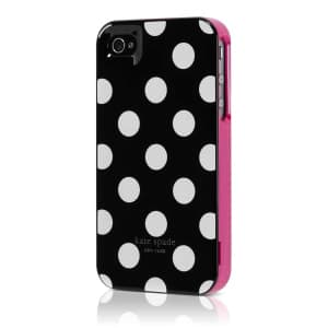 Kate Spade New York Agenda Black Polka Dot Hard Case for iPhone 4 4S