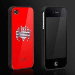 More Cubic Black Exclusive Plus Bling Case for iPhone 4 4S - Bat