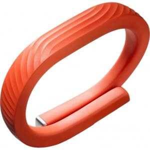 Jawbone UP24 Wireless Activity Tracker Wristband Persimmon Orange Medium