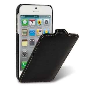 Melkco Premium Leather Case for Apple iPhone 5 5S - Jacka Type (Black)