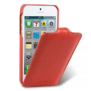 Melkco Premium Leather Case for Apple iPhone 5 5S - Jacka Type (Red)