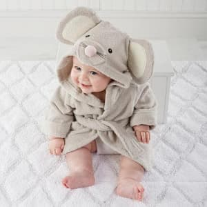 Baby Aspen Squeaky Clean Mouse Hooded Spa Robe