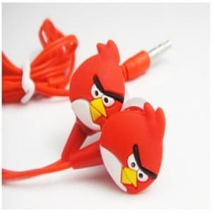 Angry Birds Headphones Ear Buds - Red Bird