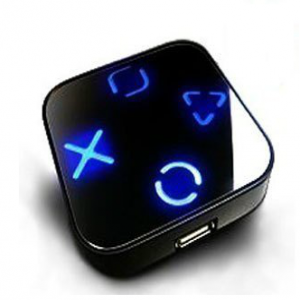 Ultra Blue Led Light Backlit USB 2.0 Hub - 4 Ports