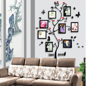 Living Room Tree Photo Frames Wall Decal Sticker