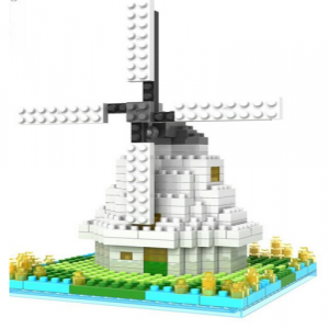 Loz Nano Block Architecture Series Windmill of Amsterdam