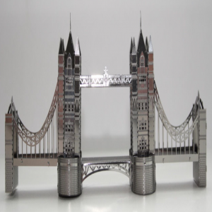DIY 3D Stainless Steel Metal Puzzle Laser Cut-London Tower Bridge