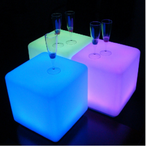 "60 cm 24"" Outdoor LED Cordless Cube Chair Color Changing Light"
