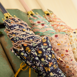 Japanese Zaka Floral Print Stick Umbrella
