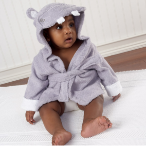 Baby Aspen Hug-alot-amus Hooded Hippo Robe