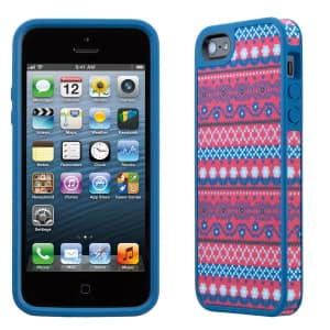 Speck Products Fitted FabShell Case for iPhone 5 5S - DigiTribe Pink/Blue