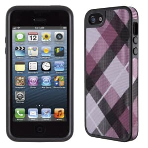 Speck Products Fitted FabShell Case for iPhone 5 5S - MegaPlaid Mulberry/Black