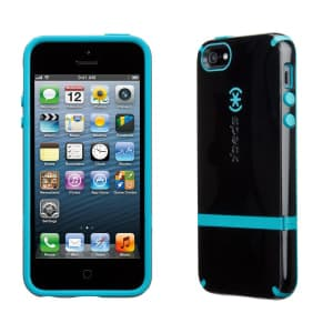 Speck Products Candyshell Flip for iPhone 5 5S Case - Black/Black/Peacock
