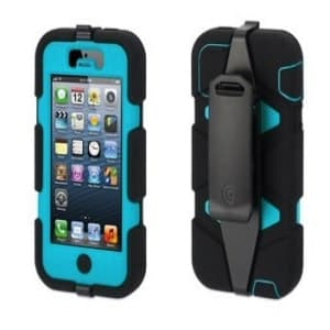 Griffin Survivor Case for iPhone 5 5S Black / Pool Blue