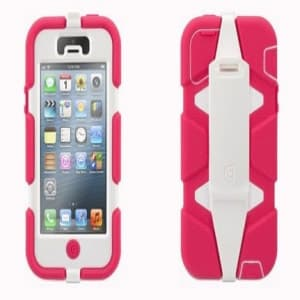 Griffin Survivor Case for iPhone 5 5S Pink White