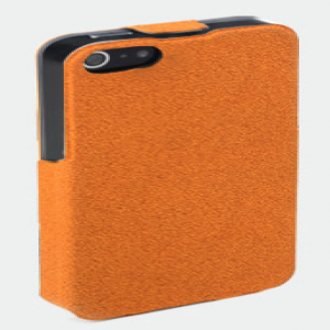 ROCK iPhone 5 5S Flip Folio Leather Case - Orange