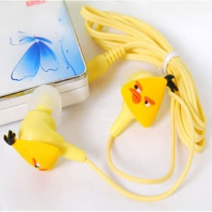 Angry Birds Headphones Ear Buds - Yellow Bird