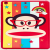 Paul Frank Silicone Case for iPad Air Rainbow Monkey Red Glasses Julius