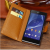 Real Leather Wallet Flip Case for Sony Xperia Z2