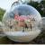 Christmas Gift Idea DIY Miniature House Model Glass Globe Ornament with Led Lights Lolita Pink