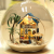 Aegean Sea DIY Miniature House Model Glass Globe Ornament with Led Lights Christmas Gift Idea