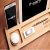 d-park Bamboo Wood Desk Organizer for iPads iPhones Tablets Smartphones